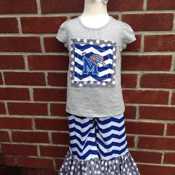 Blue and Gray outfit - Memphis Tigers