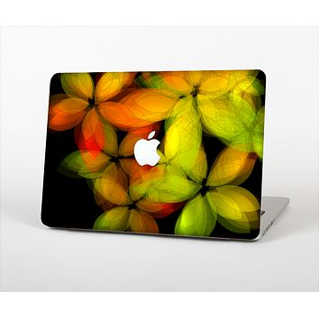 The Neon Blurry Translucent Flowers Skin Set for the Apple MacBook Air 13""