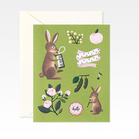 Olive Rabbits Card