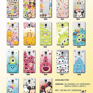 Disney TsumTsum  Licensed Original   For HTC One M9 ,Phone Case,Pattern phone case,crystal hard case