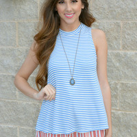 Cross The Line Striped Top