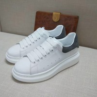 Alexander McQueen Men's Leather Fashion Lace-Up Sneakers Shoes