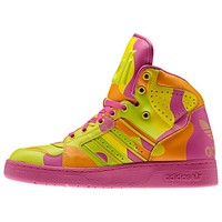 JEREMY SCOTT INSTINCT HI NEON CAMO SHOES