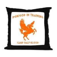 Camp Half-Blood Suede Pillow by fteez