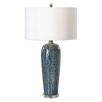Maira Blue Ceramic Table Lamp