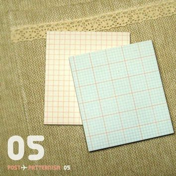 Grid Pattern Sticky Note Set v5