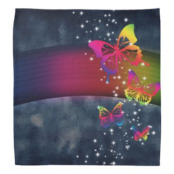 Butterflies n Rainbows Bandana