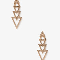 Dotted Triangle Drop Earrings