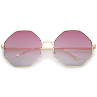 Women's Indie Festival Oversize Hexagon Sunglasses A656