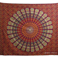 INDIAN MANDALA TAPESTRY WALL HANGING HIPPIE BED COVER Ethnic Home Wall Decor Art on RoyalFurnish.com