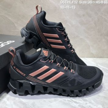 AUGUAU A465 Adidas Terrex High Frequency Breathable TPU Vamp Running Shoes Black Pink