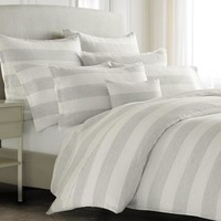 Amagansett Striped Linen Bedding | Indigo
