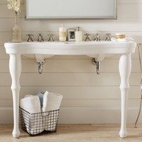 Parisian Pedestal Double Sink Console | Pottery Barn