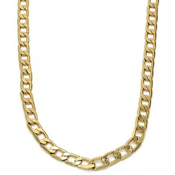 Gold Tone Basic Necklace, Mariner Design, Gold Tone