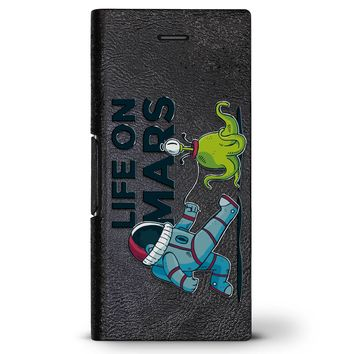 Life on Mars | Leather Series case for iPhone 8/7/6/6s in Hickory Black