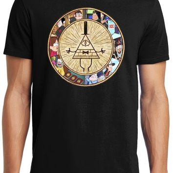 PubliciTeeZ Bill Cipher Gravity Falls Adult T-Shirt (M, Black)