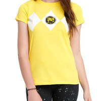 Mighty Morphin Power Rangers Yellow Ranger Girls Costume T-Shirt