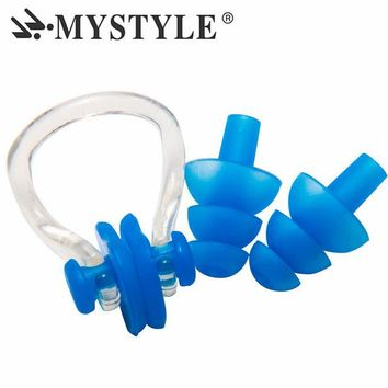 Swimming Pool beach Soft Silicone Swimming Nose Clips + 2 Ear Plugs Earplugs Gear with A Case Box Set Pool Accessories Water SportsSwimming Pool beach KO_14_1