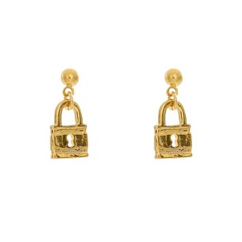 Little Lock Charm Earrings