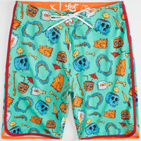 Lost Broken Dreams Mens Boardshorts Aqua  In Sizes