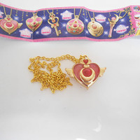 Sailor Moon Bandai Die-cast Crisis Moon Locket Necklace Limited