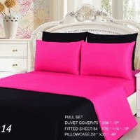 Tache 6 Piece 100% Cotton Pink Superstar Reversible Duvet Cover Set, Full