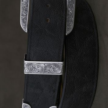 Clint Orms Jewelry~ The Men's Galveston Sterling Silver Belt Buckle Set