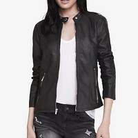 Double Peplum (minus The) Leather Jacket from EXPRESS