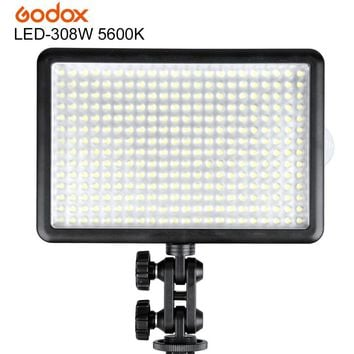 Godox LED308W 5600K LED 308 Video Light Lamp for Wedding Videography Shooting with Wireless Remote and Handle Grip