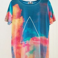 Galaxy Fancy Triangles with Painting Tee [635]