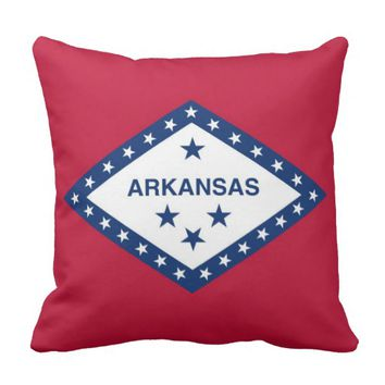 Arkansas State Flag American MoJo Pillow