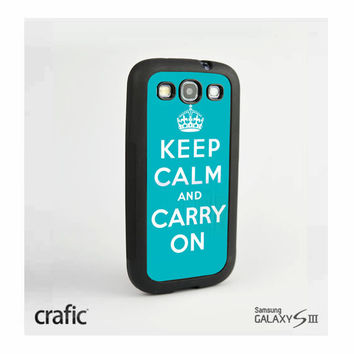 Keep Calm Carry On Case Samsung i9300 Galaxy S3 III