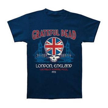Grateful Dead Men's  Wembley Empire Pool T-shirt Blue Rockabilia