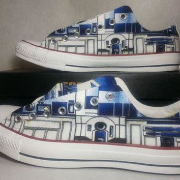 DCKL9 Star Wars R2D2 Low Top Custom Converse All Stars