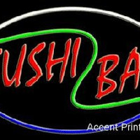 Sushi Bar Large Handcrafted Real GlassTube Neon Sign