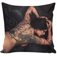 The Girl With The Dragon Tattoo Pillow