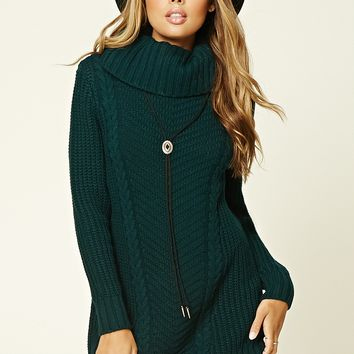 Longline Turtleneck Sweater