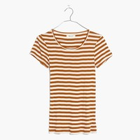 Slim Ribbed Tee in Sandoval Stripe : shopmadewell AllProducts | Madewell