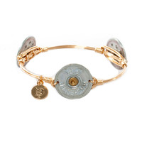 Bourbon and Bowties Winchester 12 Gauge Shotgun Shell Bangle (Silver)