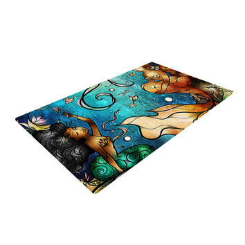 "Mandie Manzano ""Under the Sea"" Mermaids Woven Area Rug"
