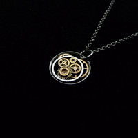 Clockwork Pendant Lumi?re Intricate Mechanical by amechanicalmind