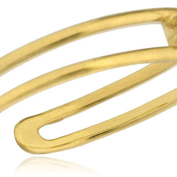 14K Yellow or White Gold Two Wire Simple CZ Stone Toe Ring