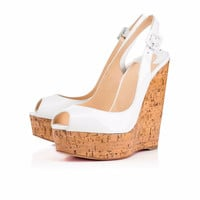 Ladies Shoes Wedges Peep Toe Wooden Pattern White Mary Jane Platform Sandals Comfort Slingbacks Party Shoes