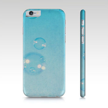 Blue Bubbles - Phone Case - Art Phone Cover - iPhone Case - iPad Mini Case - Samsung Galaxy S4 S5 - Pastel Blue Case
