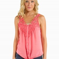 TIE FRONT TANK SHIRT