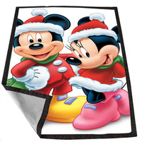 Cristmas Disney Mickey and Minnie Mouse 3ca380a9-19e5-4a1f-ae94-3196b00a08a6 for Kids Blanket, Fleece Blanket Cute and Awesome Blanket for your bedding, Blanket fleece *02*
