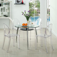 Modway Furniture EEI-908-CLR Casper Dining Chairs Set of Four in Clear