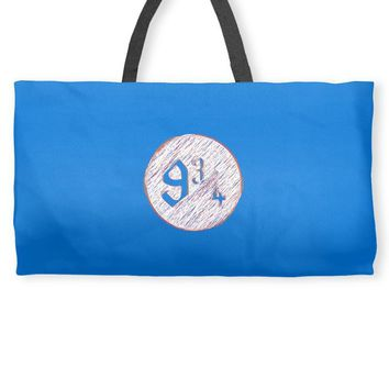nine three quarters harry potter hogwarts Weekender Totes