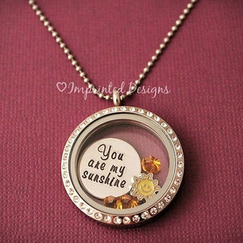 You Are My Sunshine / Living Locket / Floating Charm Locket