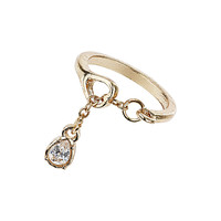 Crystal Chain Charm Ring